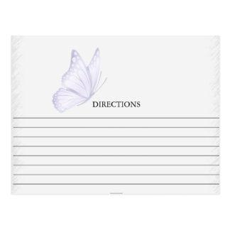 Simple Purple Butterfly Recipe Cards