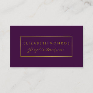 Purple and gold business cards templates zazzle simple purple gold foil effect business card colourmoves