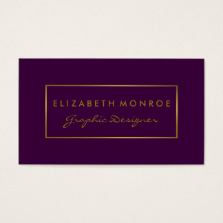 Gold foil business cards templates zazzle simple purple amp gold foil effect business card reheart Image collections