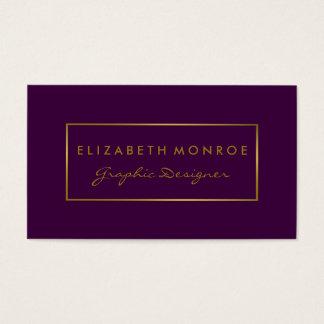 Simple Purple & Gold Foil Effect Business Card