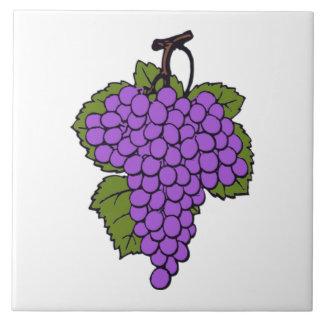 Simple Purple Grape Cluster  Fruit Large Square Tile
