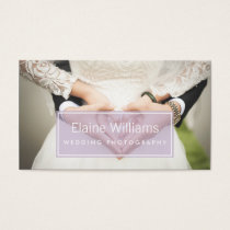 simple purple modern photography Business Card