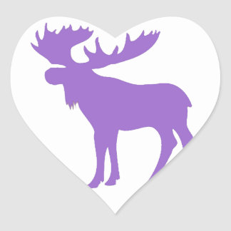 Simple purple moose symbol stickers