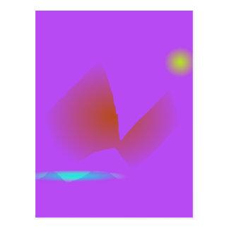 Simple Purple Music Postcard