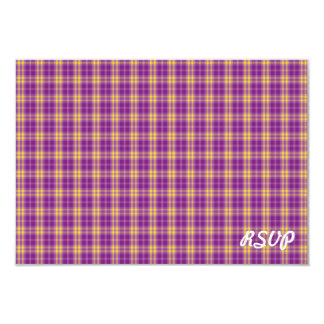 Simple Purple Paid Pattern RSVP Invitation