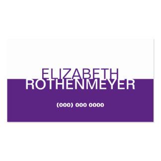 Simple Purple Panel Business Card