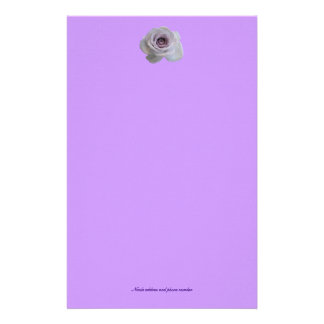 Simple Purple rose Stationery
