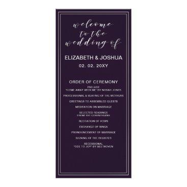 Simple Purple Silver Wedding programs