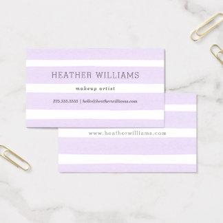Simple Purple Watercolor Business Card