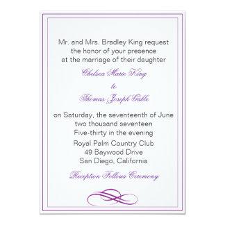 Simple Purple Border Wedding Gifts on Zazzle