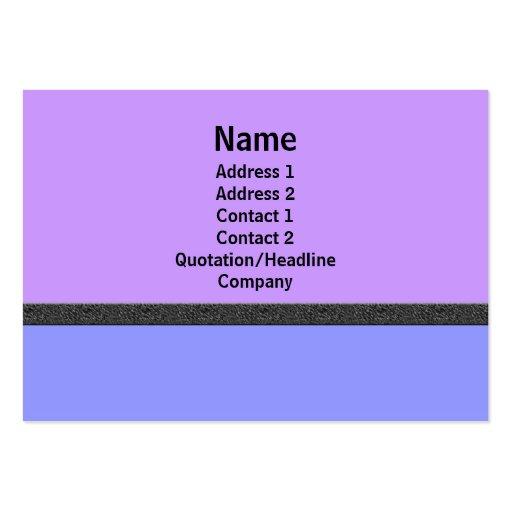 simple púrpura azul tarjetas de visita