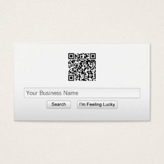 Simple QR Code Search Bar Business Card