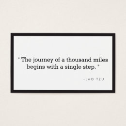 Motivational quotes business cards templates zazzle simple quote business card for authors writers colourmoves
