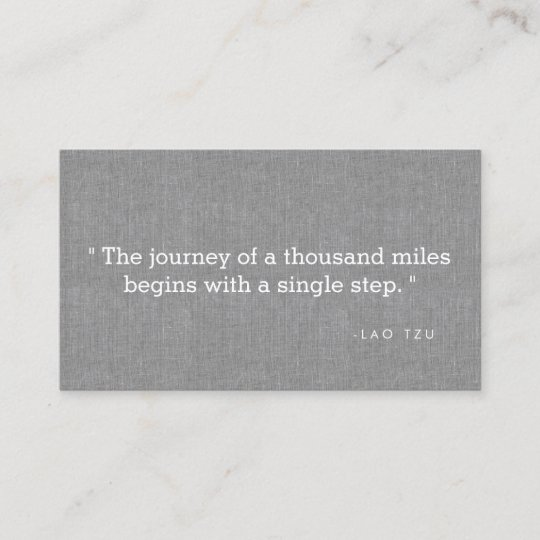 Simple Quote On Gray Linen Authors Writers Business Card Zazzle