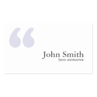 Simple Quotes Swim Instructor Business Card