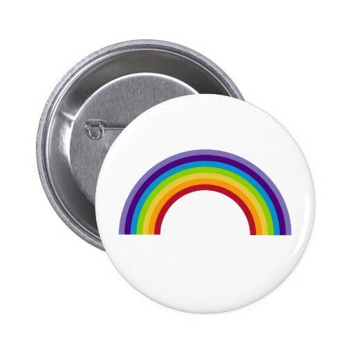 Simple Rainbow Button Badge