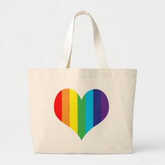 Simple Rainbow Heart Bag