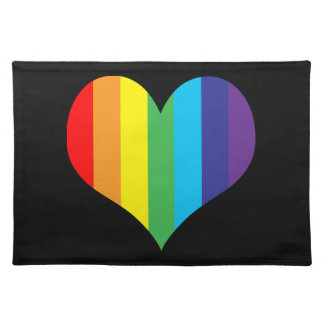 Simple Rainbow Heart Placemat