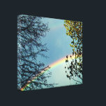 """Simple Rainbow&amp;Trees 2 Canvas Print<br><div class=""""desc"""">Another angle of the first version of this canvas that you can find in our store and a lot more!! :) Come take a look! Your satisfaction is our biggest priority!</div>"""