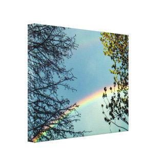 Simple Rainbow&Trees 2 Canvas Print