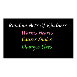 Simple Random Acts of Kindness Card Business Card