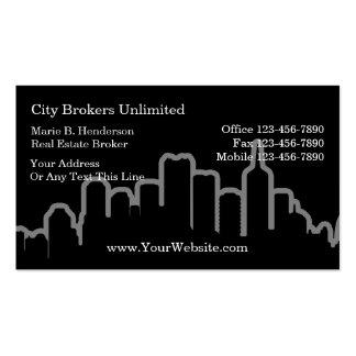 Simple Real Estate Broker Business Cards