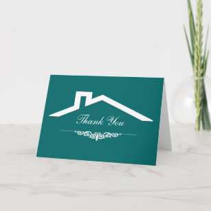 Business thank you cards zazzle simple real estate business thank you cards reheart Image collections