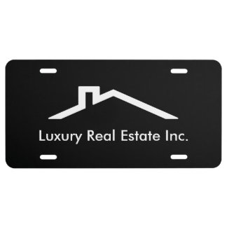 Simple Realtor License Plate