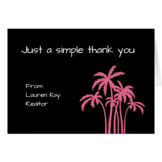 Simple Realtor Tropical Thank You Card