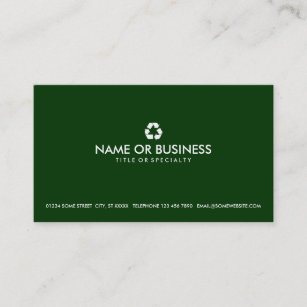 Recycle symbol business cards templates zazzle simple recycle business card colourmoves