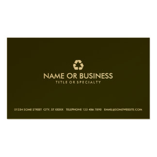 simple recycle Double-Sided standard business cards (Pack of 100)