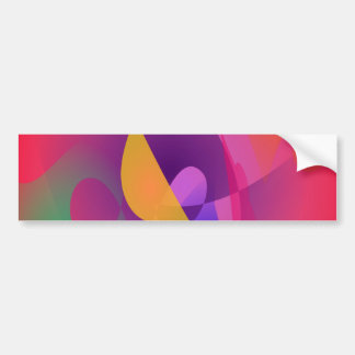 Simple Red Abstract Painting Bumper Sticker