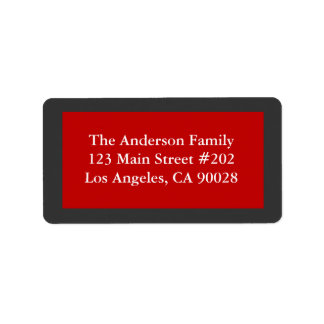 simple red address label