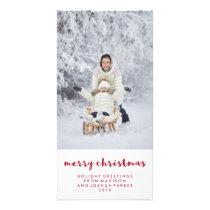 Simple Red and White Merry Christmas | Photo Card