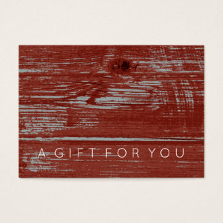Simple Red Barn Wood | Rustic Gift Certificate