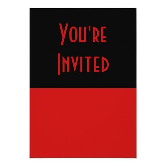 simple red black card