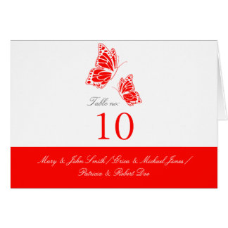 Simple Red Butterfly Table Place Card