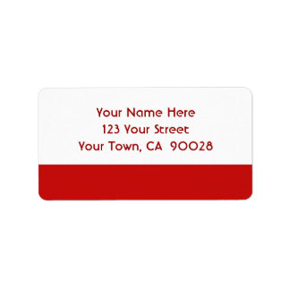 simple red color address label