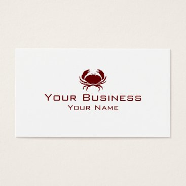Professional Business SImple red Crab custom business cards