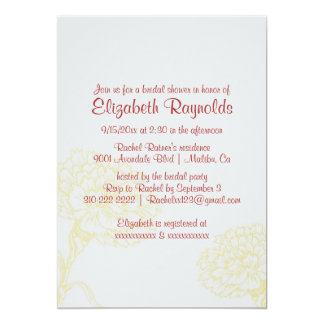 Simple Red & Gold Bridal Shower Invitations Announcements