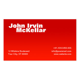 Simple Red Gradient Business Card