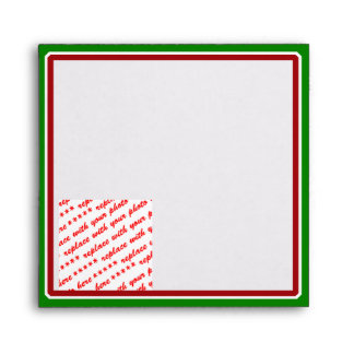 Simple Red & Green Frame for the Holidays Envelope