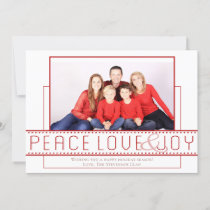 Simple Red Holiday | Modern Peace Love Joy Photo