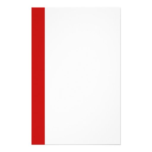 simple red personalized stationery