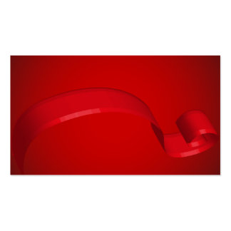Simple Red Ribbon Gift Cards Business Cards