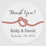 Simple Red Rope Knot Wedding Favor Stickers