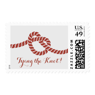 Simple Red Rope Knot Wedding Stamps