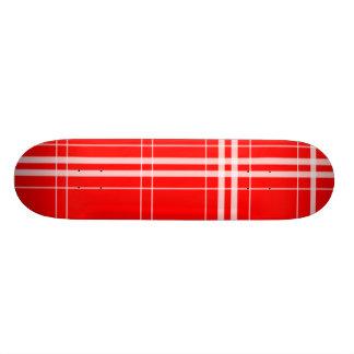 Simple red skateboard deck