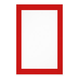 simple red stationery