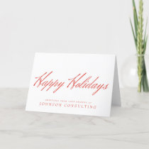 Simple Red Typography | Holiday Greetings